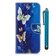 billiga Mobil cases & Skärmskydd-fodral Till LG K10 (2017) Korthållare Plånbok med stativ Lucka Magnet Fodral Fjäril Hårt PU läder för LG K10 (2017) LG K8 LG K7