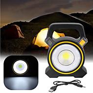 cheap -30W USB Rechargeable Solar COB LED Portable Flood Light Outdoor Garden Lantern