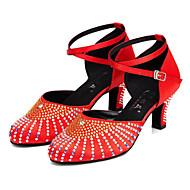"""billige Moderne sko-Dame Moderne Kunstlær Høye hæler Trening Profesjonell Høy Hæl Svart Rød Naken 2 """"- 2 3/4"""" Kan spesialtilpasses"""