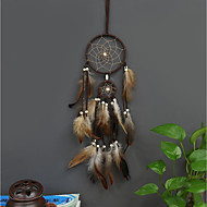 cheap Wall Decor-Wall Decor Feather/Fur Pastoral Wall Art, Dreamcatcher of 1