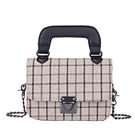cheap Bags-Women's Bags PU Linen Tote Pattern / Print for Casual Office & Career All Seasons Black Beige Wine
