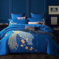 billige Blomstrete dynetrekk-Sengesett Blomstret Polyester / Bomull Mønstret 4 delerBedding Sets