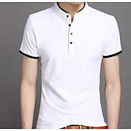 Høj krave Herre - Ensfarvet, Basale T-shirt