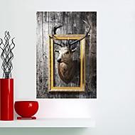billiga Väggklistermärken-Djur Väggklistermärken Väggstickers Flygplan Map Wall Stickers Animal Wall Stickers Dekrativa Väggstickers, Vinyl Hem-dekoration