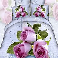 levne Květinové povlaky Kryty-Povlečení Květinový 4 kusy Polybavlna 100% bavlna S potiskem Polybavlna 100% bavlna Povlak na přikrývku 1 ks 2 ks polštář 1 ks volné