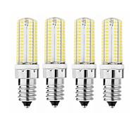 billige Kornpærer med LED-SENCART 1pc 3.5W 600 lm E14 G9 G4 LED-kornpærer T 104 leds SMD 3014 Dekorativ Varm hvit Kjølig hvit 110-120V 220V-240V