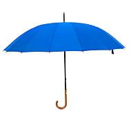 baratos Mais Populares-Tecido Homens Ensolarado e chuvoso / Prova-de-Vento / novo Guarda-chuva Reto