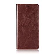 billiga Mobil cases & Skärmskydd-fodral Till Xiaomi Mi 6 Plus Korthållare / med stativ / Lucka Fodral Enfärgad Hårt Äkta Läder för Mi 6 Plus