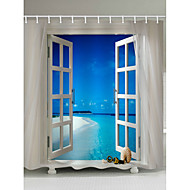 cheap Shower Curtains-Shower Curtains & Hooks Contemporary Polyester Novelty Machine Made Waterproof
