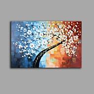 billiga Blom-/växtmålningar-Hang målad oljemålning HANDMÅLAD - Stilleben Blommig / Botanisk Samtida Vintage Duk