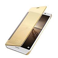 billiga Mobil cases & Skärmskydd-fodral Till Huawei Mate 10 / Mate 9 Plätering / Spegel / Lucka Fodral Enfärgad Hårt PU läder för Mate 10 / Mate 9