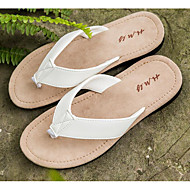 baratos Sapatos Masculinos-Homens PVC Primavera / Verão Conforto Chinelos e flip-flops Branco / Preto