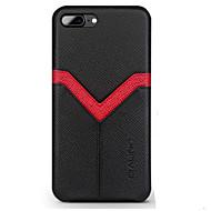 billiga Mobil cases & Skärmskydd-fodral Till Apple iPhone 8 iPhone 8 Plus Korthållare Stötsäker Skal Linjer / vågor Hårt Äkta Läder för iPhone 8 Plus