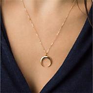 Mulheres MOON Colares com Pendentes  -  Vintage Fashion Dourado Prata Colar Para Diário Para Noite