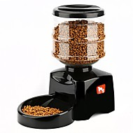 cheap Dog Clothing & Accessories-5.5 L Dogs Cats Dispensers Feeders Pet Bowls & Feeding Bowls & Feeders Sound Recording Automatic Black