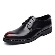 Muškarci Cipele Koža Proljeće Jesen svečane cipele Udobne cipele Oksfordice za Kauzalni Ured i karijera Crn Crvena