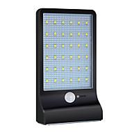 billige Utendørs Lampeskjermer-1pc 3W Wall Light Solar Infrarød sensor Vanntett Lysstyring Dekorativ Utendørsbelysning Hvit DC3.7V