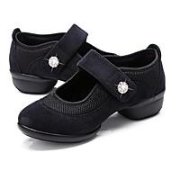 baratos Sapatilhas de Dança-Mulheres Tênis de Dança Lona / Tule Têni Cristal / Strass Salto Robusto Personalizável Sapatos de Dança Preto