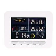 baratos Renovando-Termômetro inteligente receptor despertador sensor de temperatura e umidade higrômetro 1 pacote lcd on / off escritório interior cozinha casa ao ar