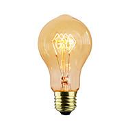 billige Glødelampe-1pc 40W E26/E27 A60(A19) K Glødende Vintage Edison lyspære AC 220-240V V