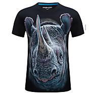 Veći konfekcijski brojevi Majica s rukavima Muškarci - Kinezerije Sport Životinja Okrugli izrez Print Pamuk