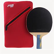 baratos Tenis de Mesa-DHS® E502 Ping Pang/Tabela raquetes de tênis Madeira Borracha 5 Estrelas Cabo Comprido Espinhas
