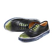 baratos Sapatos Masculinos-Homens Pele Napa Primavera / Outono Conforto Tênis Verde / Azul / Vinho