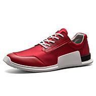 baratos Sapatos Masculinos-Homens Couro Ecológico Primavera / Verão Conforto Tênis Corrida / Aventura / Ciclismo Branco / Preto / Vermelho / Caminhada