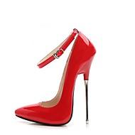 abordables Talons pour Femme-Femme Chaussures Polyuréthane Printemps / Automne Escarpin Basique Chaussures à Talons Talon Aiguille Bout pointu Boucle Noir / Pêche /