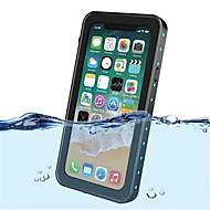 billiga Mobil cases & Skärmskydd-fodral Till Apple iPhone X Stötsäker Vattentät Genomskinlig Fodral Ensfärgat Hårt Plast för iPhone X