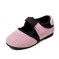 baratos Sapatos de Menina-Para Meninas Sapatos Camurça Primavera / Outono Conforto / Sapatos para Daminhas de Honra Rasos Combinação / Velcro para Rosa claro /