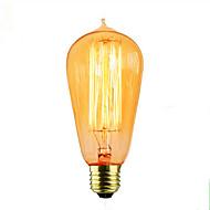 billige Glødelampe-1pc 40W E26/E27 ST64 2300 K Glødende Vintage Edison lyspære AC 110-220 AC 110-130V AC 220-240V V