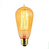 billiga Belysning-1st 40W E26/E27 ST58 Varm Gul 2000 K Dekorativ Glödande Vintage Edison glödlampa 110-120V 220V-240V