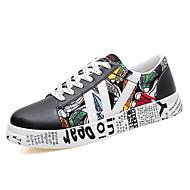 Χαμηλού Κόστους Μπάσκετ-Γυναικεία Παπούτσια Ύφασμα Άνοιξη / Φθινόπωρο Ανατομικό Αθλητικά Παπούτσια Μπάσκετ Στρογγυλή Μύτη Κορδόνια Λευκό / Μαύρο / Μαύρο / Άσπρο