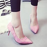 hesapli -Kadın's Ayakkabı PU Bahar Yaz Düz Ayakkabılar Düz Taban Sivri Uçlu Günlük için Siyah Gri Mavi Pembe