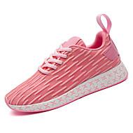 preiswerte -Damen Schuhe Atmungsaktive Mesh Frühling / Herbst Komfort Sportschuhe Walking Flacher Absatz Runde Zehe Rot / Blau / Rosa