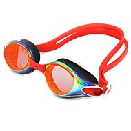 billiga Swim Goggles-Simglasögon Anti-Dimma Anti - Slit Justerbar storlek Anti-UV Reptåligt Stöttålig Anti-halk band Vattentät Plätering Kiselgel PC Blå