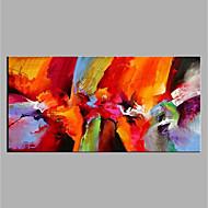 baratos -Pintados à mão Abstrato Horizontal, Modern Tela de pintura Pintura a Óleo Decoração para casa 1 Painel