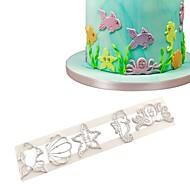 billige Bakeredskap-1pc Fisk Bursdag For Iskrem Til Kake For Småkake Til Småkake Plast GDS Bursdag Kakekuttere Bake & Mørdeigs Verktøy