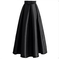dámské běžné denní midi sukně, jednoduchá houpačka z polyesteru