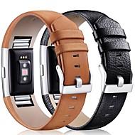 billiga Smart klocka Tillbehör-Klockarmband för Fitbit Charge 2 Fitbit Klassiskt spänne Läder Handledsrem