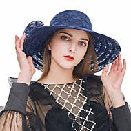 Pentru femei Kentucky Derby Mată Dantelă Dantelă-Palarie de soare Vară Bleumarin Gri Kaki / Draguț / Material Textil