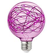 billige Globepærer med LED-brelong 1 stk 3w e27 95led dekorative globuspærer ac220v gul / rosa / rgb
