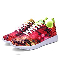 baratos Sapatos Masculinos-Homens / Unisexo Solas Claras Tule / Couro Ecológico Primavera / Verão Conforto Tênis Corrida Roxo / Fúcsia / Verde