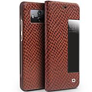 billiga Mobil cases & Skärmskydd-fodral Till Huawei Mate 10 pro Mate 10 Stötsäker med fönster Lucka Fodral Ensfärgat Hårt Äkta Läder för Mate 10