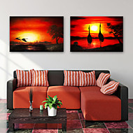 cheap Prints-Stretched Canvas Prints Modern, Two Panels Canvas Horizontal Vertical Print Wall Decor Home Decoration