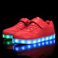 tanie Obuwie dziewczęce-Dla chłopców / Dla dziewczynek Obuwie Derma Wiosna Wygoda / Świecące buty Tenisówki Spacery Szurowane / Haczyk i pętelka / LED na Czerwony / Niebieski / Różowy