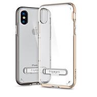billiga Mobil cases & Skärmskydd-fodral Till Apple iPhone X Stötsäker med stativ Skal Ensfärgat Mjukt TPU för iPhone X