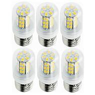 billige Kornpærer med LED-SENCART 6pcs 5W 800-1200 lm E14 G9 E26/E27 B22 LED-kornpærer T 42 leds SMD 5730 Dekorativ Varm hvit Kjølig hvit 12V 220V-240V