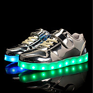 tanie Obuwie chłopięce-Dla chłopców / Dla dziewczynek Obuwie PU Wiosna / Jesień Wygoda / Świecące buty Adidasy Spacery Sznurowane / Haczyk i pętelka / LED na Srebrny / Niebieski / Różowy